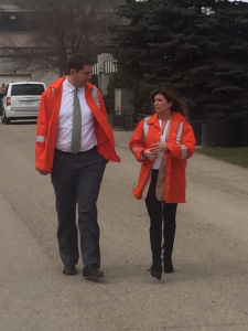 Interim Conservative Leader Rona Ambrose with Regina MP Andrew Sheer