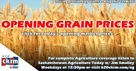 Opening Grain Prices