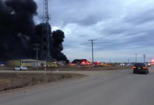Fire at Shercom Industries north of Saskatoon