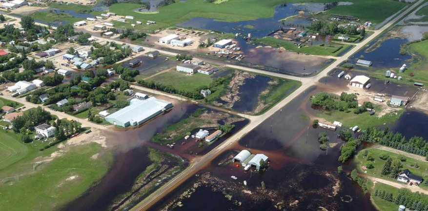 So much rain fell on southeastern Saskatchewan and western Manitoba that more than 60 communities declared states of emergency. (U of S photo)