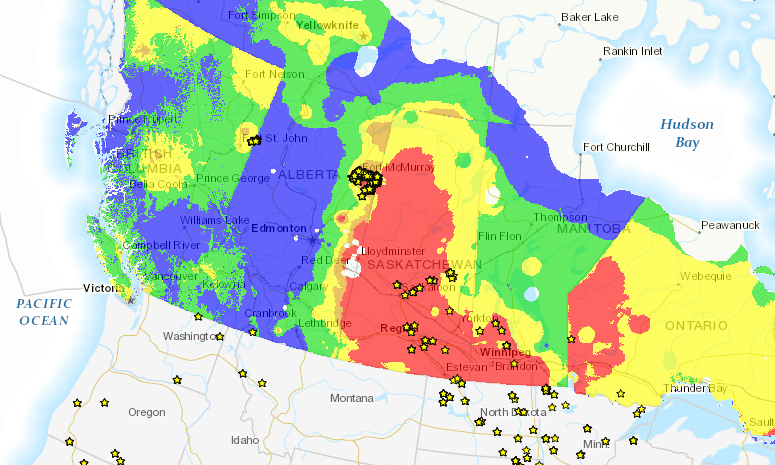 Canadian Wildland Fire Information System/Hotspots for Thursday, May 19, 2016