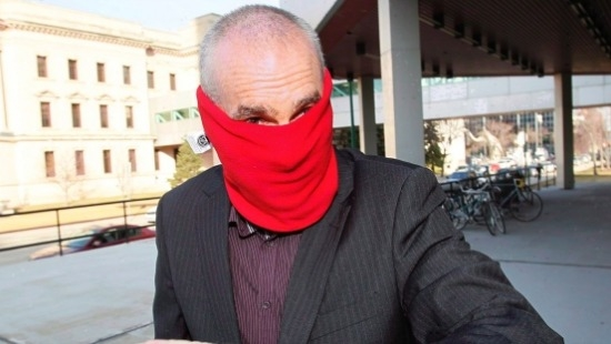 Graham James at court in Winnipeg in 2013. Photo: JOHN WOODS / THE CANADIAN PRESS