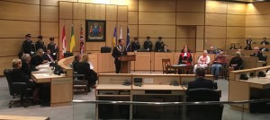 Mayor Fougere offers his closing remarks at the swearing in ceremony of Regina city council 2016-2020.