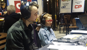 Guests Dylan and Lennon stop by to talk to Harvard Broadcasting at the Radiothon