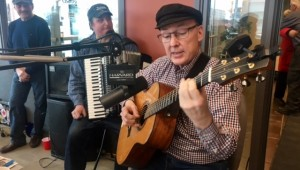 Bob Evans, Award-winning Canadian finger-style guitarist, serenades listeners with a Charlie Brown Christmas tune.