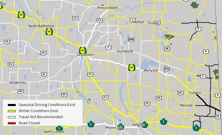 Whiteout conditions reported throughout Saskatchewan School bus